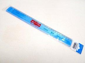Pravítko 30 cm modré