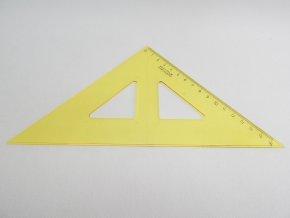Trojúhelník s kolmicí žlutý