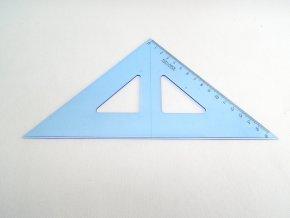 Trojúhelník s kolmicí modrý