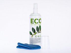 ECO čistící roztok na obrazovky, 250 ml  + hadřík z mikrovlákna 20x20 cm