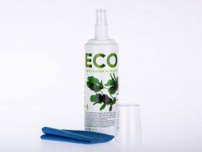 ECO čistící roztok na plasty, 250 ml  + hadřík z mikrovlákna 20x20 cm