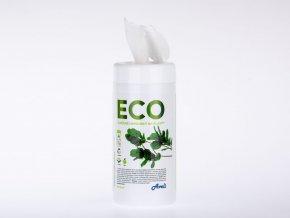 ECO vlhčené ubrousky na plasty, 100 ks