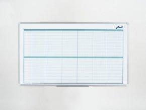 Plánovací tabule AVELI, kalendářní, 90x60 cm