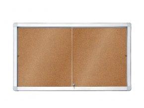 Horizontální interierová korková vitrína s posuvnými dveřmi 141 x 101 cm (18xA4)
