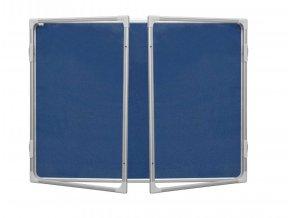 Interiérová vitrína 120x180cm,textilní vnitřek, model 2