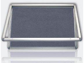 Vitrína s horizontálním otevíráním 90x120 cm, textilní šedá