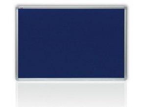 Filcová modrá tabule v hliníkovém rámu 200x100 cm