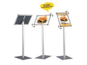 Informační tabule na stojanu 120 cm, A3 na šířku i výšku