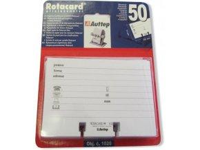 Náhradní papírová náplň pro pořadač na vizitky Rotacard