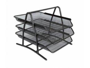 Kovový trojbox CONCORDE, černý