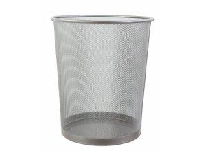 Kovový odpadkový koš CONCORDE, malý, stříbrný