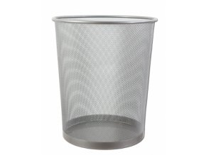 Kovový odpadkový koš CONCORDE, velký, stříbrný