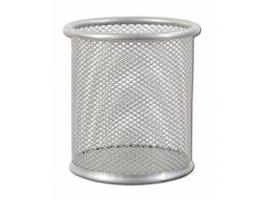 Kovový kalíšek na tužky CONCORDE, stříbrný