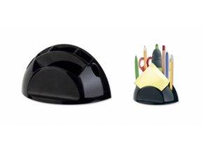 Stojánek na tužky a bločky ICO, černá