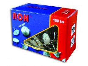 Niklované připínáčky RON 222, 100 ks