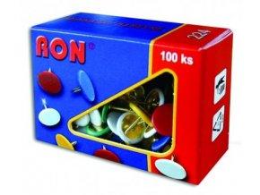 Barevné připínáčky RON 224, 100 ks
