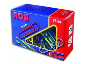 Dopisová spona RON 453 barevná 32 mm, 75 ks