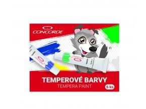Temperové barvy CONCORDE 12ml - 6ks