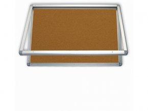 Venkovní vitrína s horizontálním otevíráním, korek 75x101cm