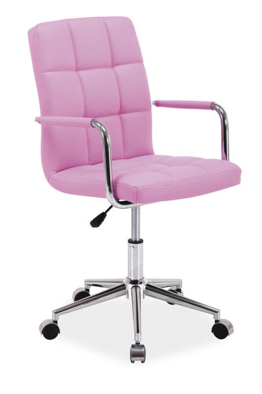 Kancelářská židle SEDIA Q022, růžová