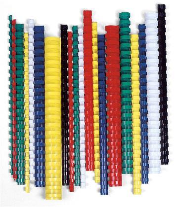 EuroSupplies Plastové pl. hřbety 28,5 modré ovál
