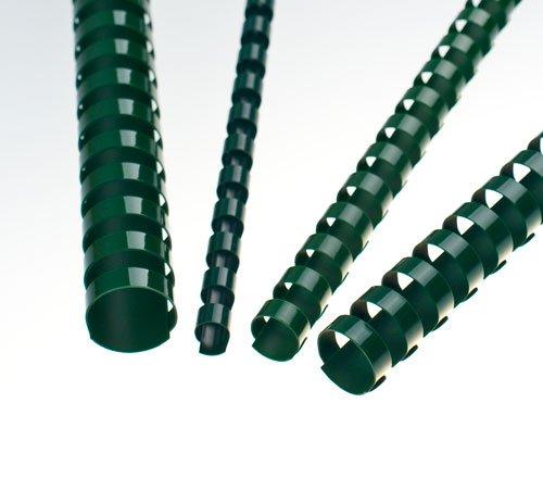 EuroSupplies Plastové pl. hřbety 8 zelené