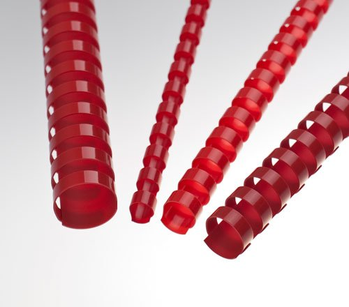 EuroSupplies Plastové pl. hřbety 10 červené