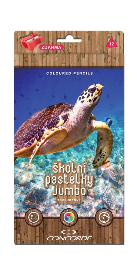 Pastelky CONCORDE Classic Jumbo trojhranné 12ks, Moře