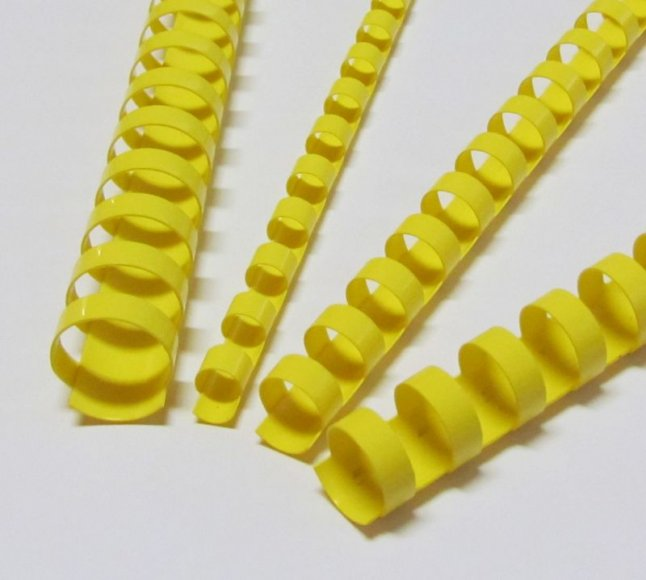 EuroSupplies Plastové pl. hřbety 22 žluté