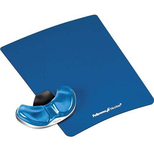 Podložka pod myš a zápěstí Fellowes Palm Health-V CRYSTAL gelová modrá felfergwmpadphealb