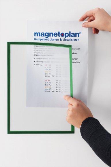Magnetoplan Magnetický rámeček Magnetofix A4 červená, 5ks