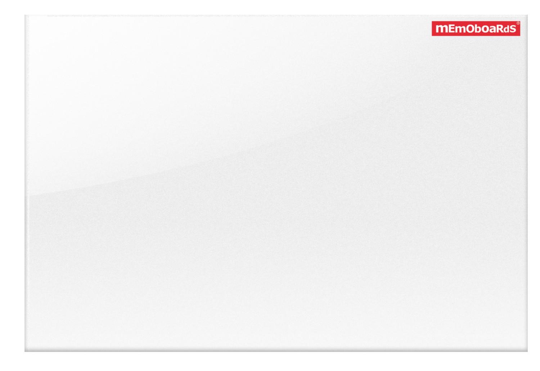 MEMOBOARDS Projekční skleněná magnetická tabule, bílá