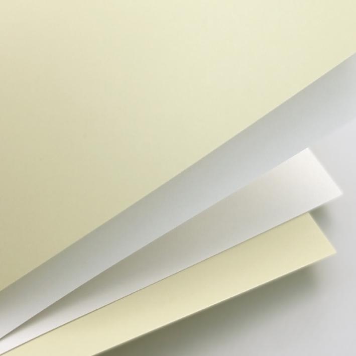UNIVOX ozdobný papír Hladký bílá 250g, 20ks