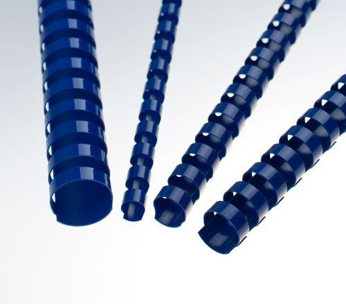 EuroSupplies Plastové pl. hřbety 6 modré 100ks