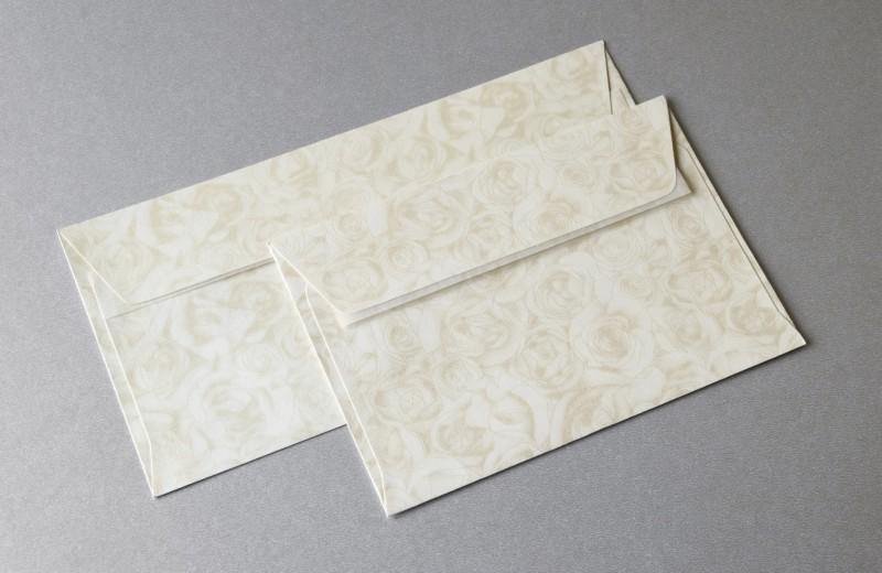 UNIVOX obálky DL Růže ivory 120g, 10ks