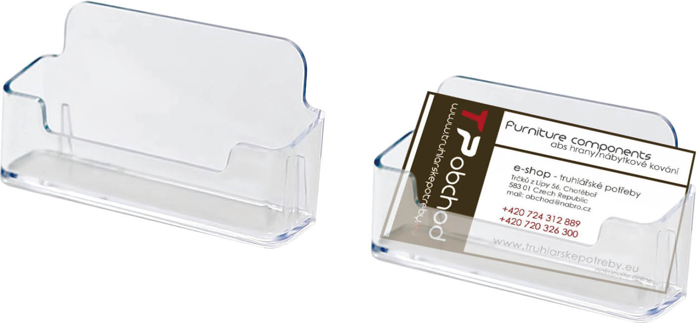EMPEN Plastový zásobník na vizitky Basco, 1ks J14.2958