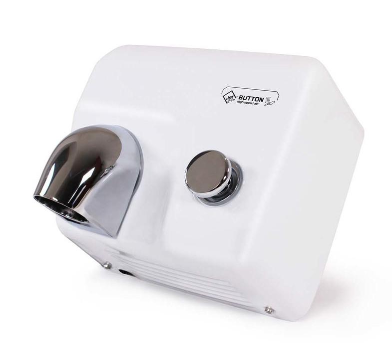 JetDryer Vysoušeč rukou Jet Dryer BUTTON, bílý kov 8596220009265