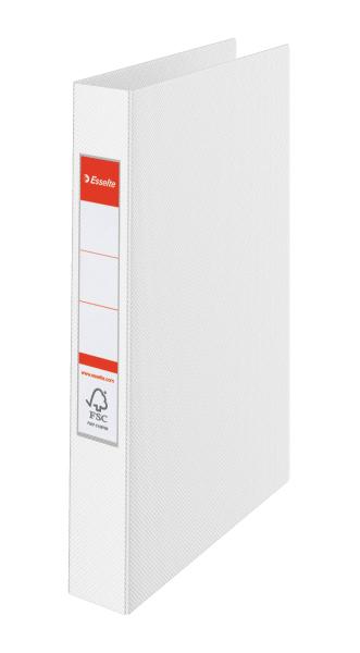 ESSELTE Kroužkový pořadač plastový VIVIDA, bílý 4 kroužky 14457