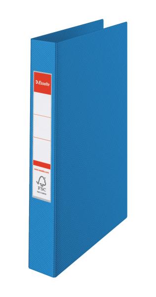 ESSELTE Kroužkový pořadač plastový VIVIDA, modrý 4 kroužky 14460