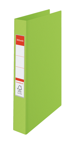 ESSELTE Kroužkový pořadač plastový VIVIDA, zelený 4 kroužky 14461
