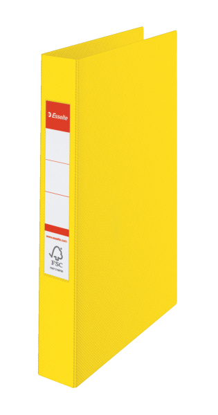 ESSELTE Kroužkový pořadač plastový VIVIDA, žlutý 4 kroužky 14458