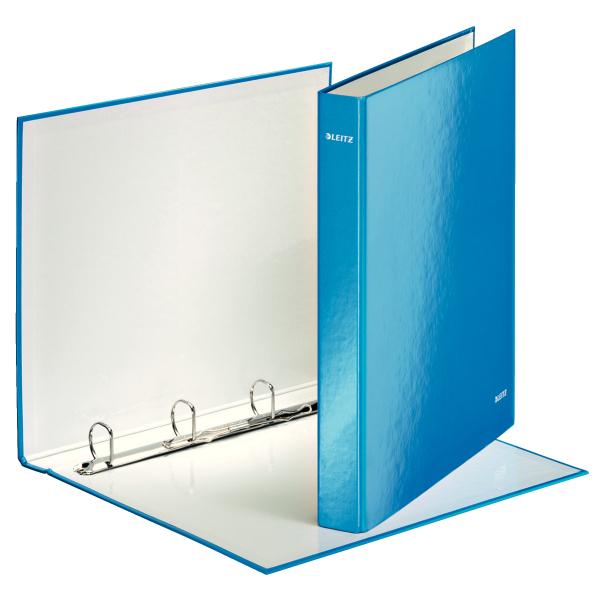 Kroužkový pořadač Leitz WOW modrý 42420036
