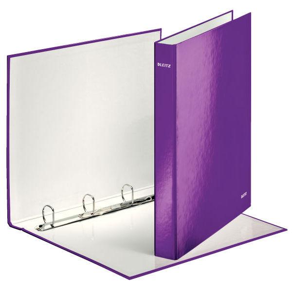 Kroužkový pořadač Leitz WOW fialový 42420062
