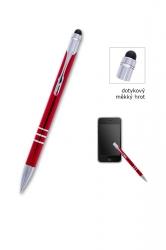 Kuličkové pero CONCORDE Soft červené, dotykové, bez potisku