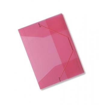 Spisové desky CONCORDE A4 s gumou, transparentní červená