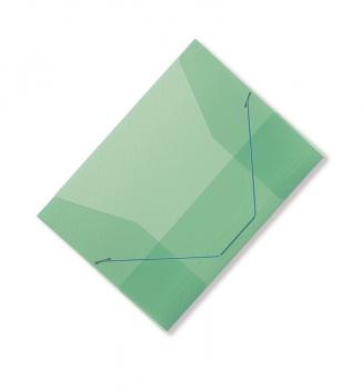 Spisové desky CONCORDE A4 s gumou, transparentní zelená