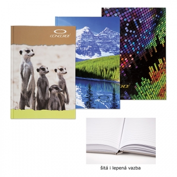 Záznamní kniha CONCORDE A5 linka, 96 listů