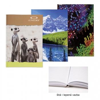 Záznamní kniha CONCORDE A4 linka, 144 listů