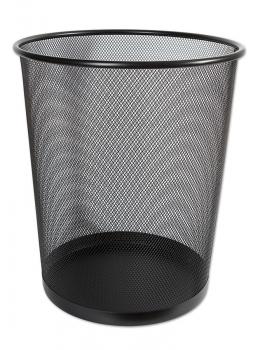 Kovový odpadkový koš CONCORDE, velký, černý