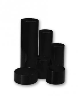 Plastový stojánek CONCORDE 6-dílný kulatý, černý